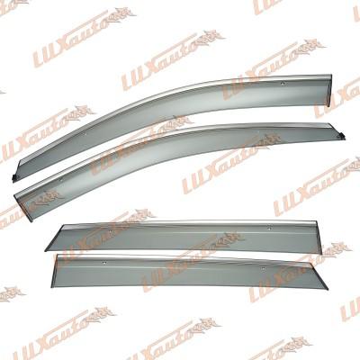 Дефлекторы Окон с Хромом Hyundai Santa Fe (IX45) 2012-