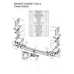 Фаркоп ТСУ для CHEVROLET LACETTI (KLAN) (седан) 2004-…