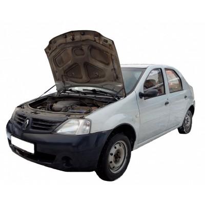 Амортизаторы упоры капота Renault Logan 2004-14