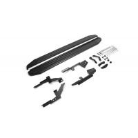 """Пороги Подножки + крепеж для Lada X-Ray 2016- Стиль """"Premium-Black"""""""