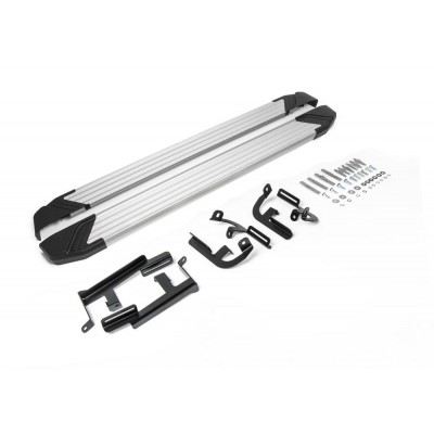 """Пороги Подножки + крепеж для Lifan X60 2016- Стиль """"Silver"""""""