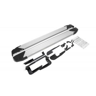 """Пороги Подножки + крепеж для Hyundai IX35 2010-2013-2015 Стиль """"Silver"""""""