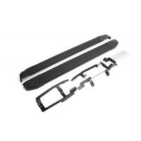 """Пороги Подножки + крепеж для Honda CR-V, 5-е поколение 2017- Стиль """"Black"""""""