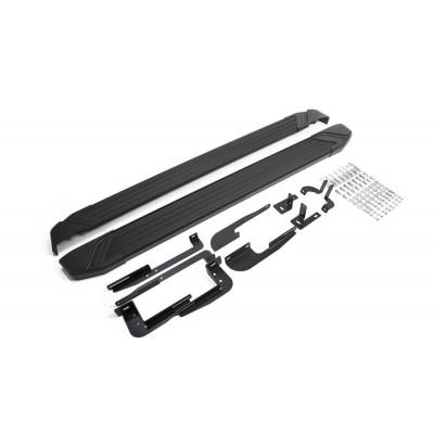 """Пороги Подножки + крепеж для Hyundai IX35 2010-2013-2015 Стиль """"Black"""""""