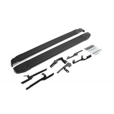 """Пороги Подножки + крепеж для Hyundai Tucson 2015- Стиль """"Black"""""""