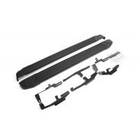 """Пороги Подножки + крепеж для Mazda CX-5 2017- Стиль """"Black"""""""