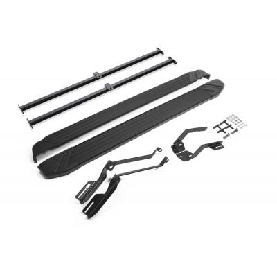 "Пороги Подножки + крепеж для Ford Explorer 2011-2015- Стиль ""Black"""