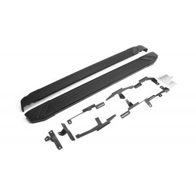 """Пороги Подножки + крепеж для Mazda CX-9 2017- Стиль """"Black"""""""