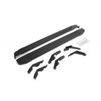 """Пороги Подножки + крепеж для Toyota Hilux 2015- Стиль """"Black"""""""