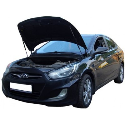 Амортизаторы упоры капота Hyundai Solaris 1 2011-14